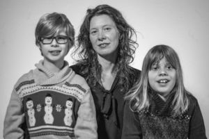 Family portrait of Melissa Magnin and her two sons.