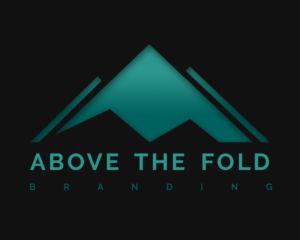 above the fold branding logo