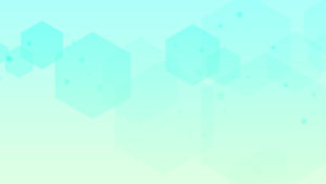 blue green backdrop with hexagon shapes