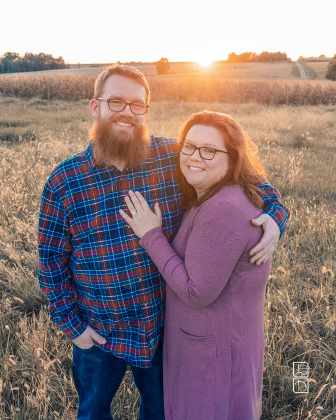 Dave and Bethany standing in a field