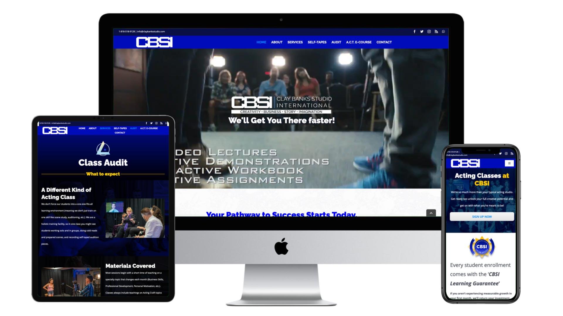 CBSI website display devices