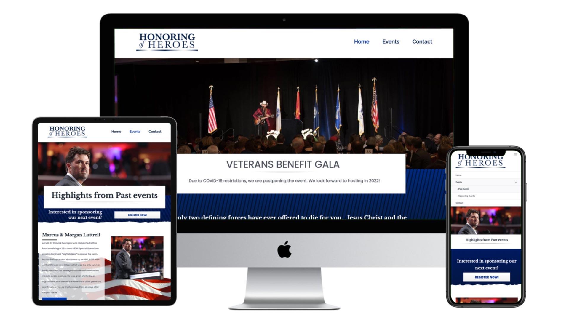 Honoring Heroes Of Gala multi device website images